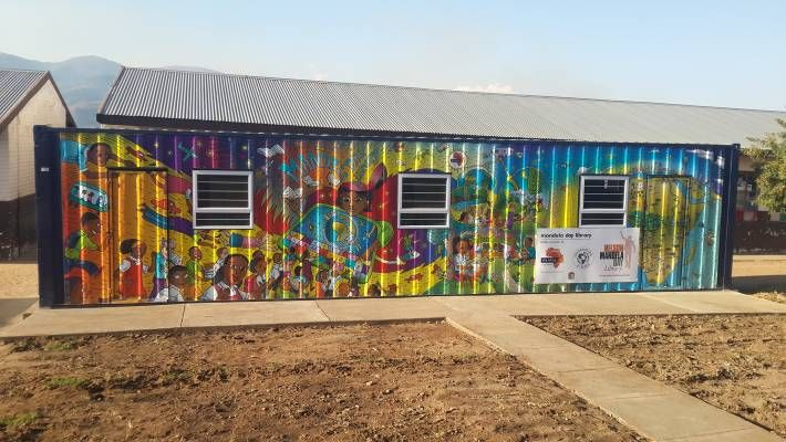 Mandela Day container libraries in South Africa